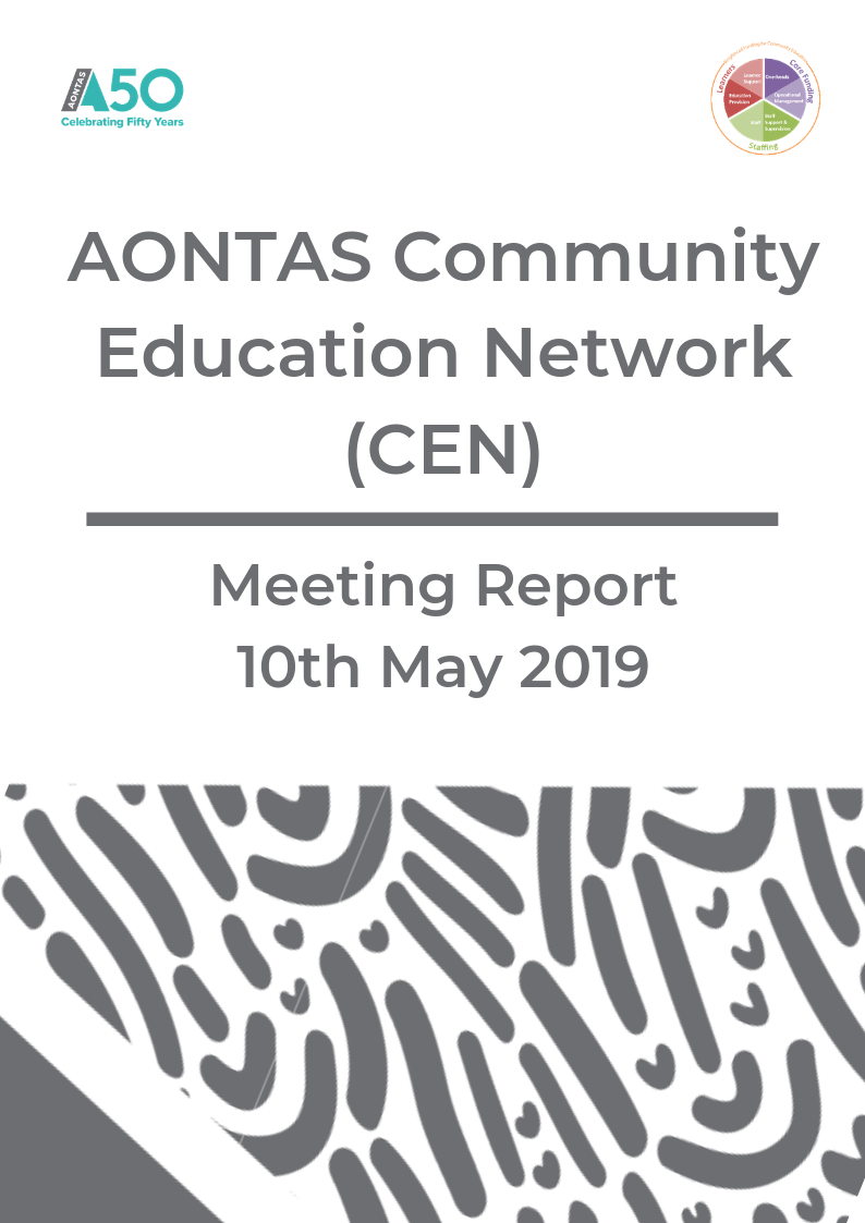 AONTAS CEN Meeting Report - May 2019 pdf